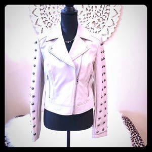 INC Faux-Leather Studded Moto Jacket 🌟